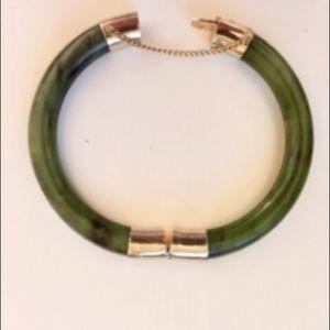 """JADE, Vintage, Bangle Bracelet 7"""""""
